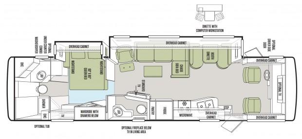 Allegro 36LA Floorplan