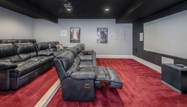 A home theater like ours is not an available option in any RV we looked at.