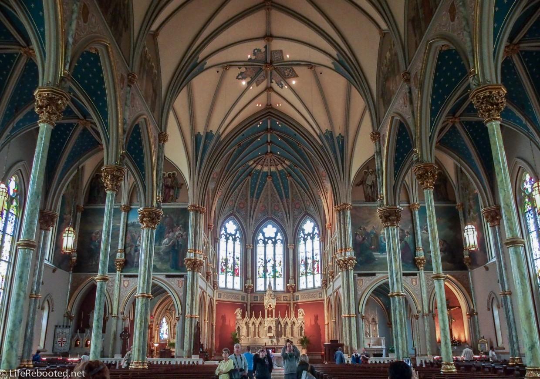 Inside Saint John's.
