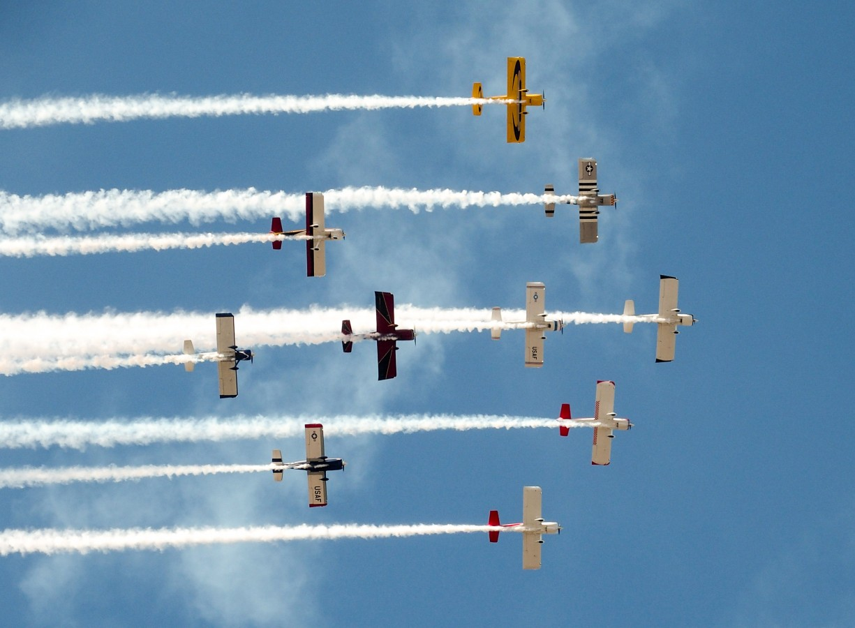 Team AeroDynamix, the world's largest air show team