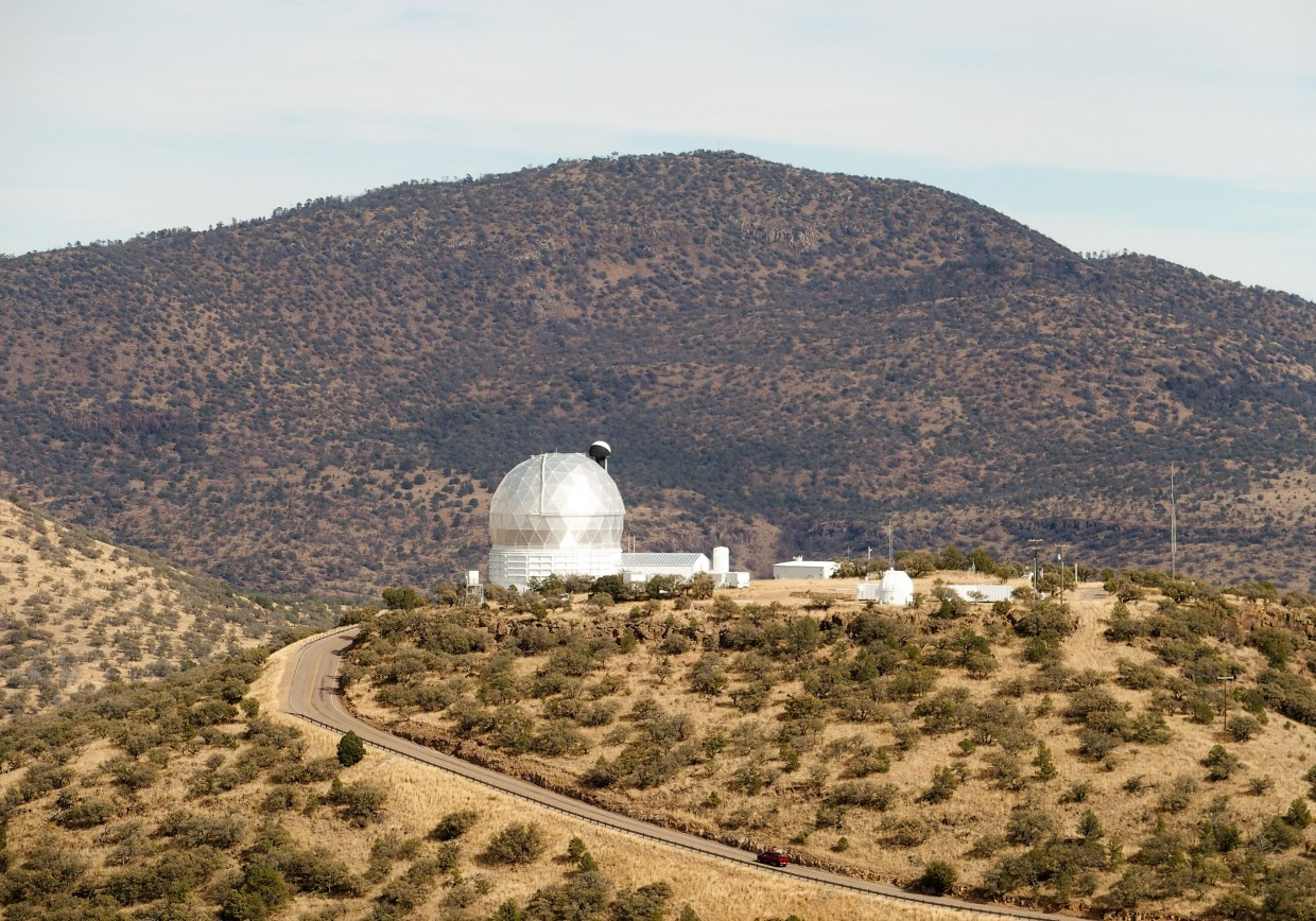 Driving to the Hobby-Everly Telescope, the third largest telescope in the world.