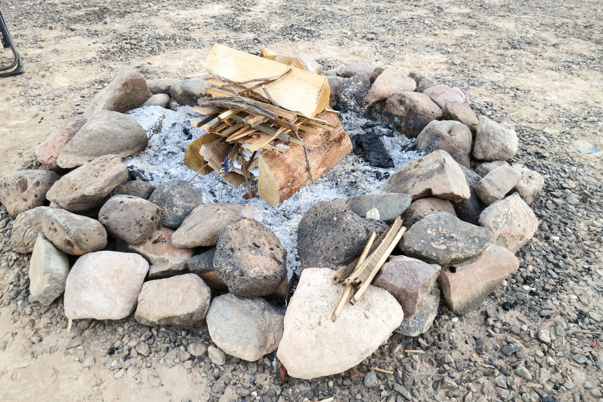 A Canadian campfire, according to the one set of Canadians we've watched build a campfire.