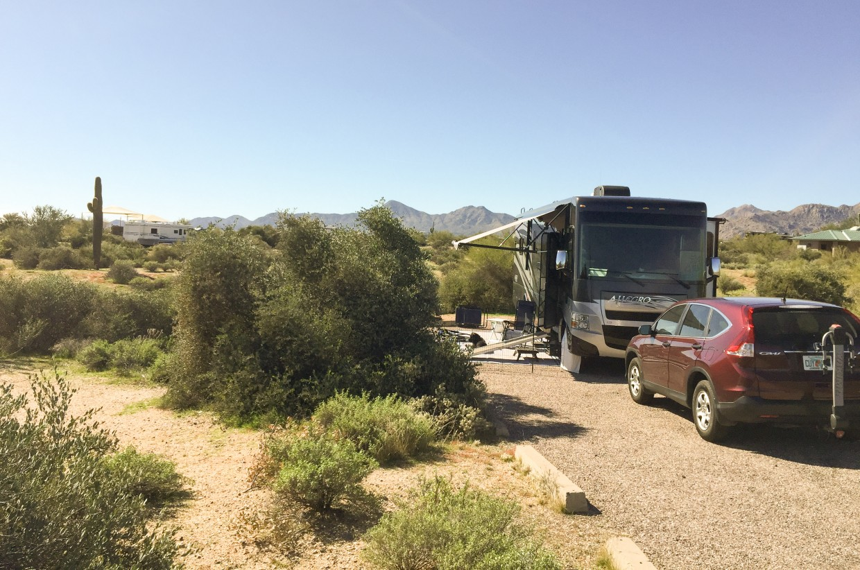 Our campsite at McDowell Mountain Park.