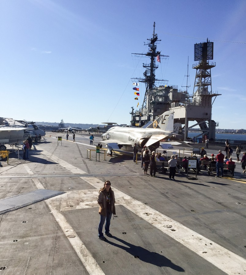 The flight deck of the impressive U.S.S. Midway.