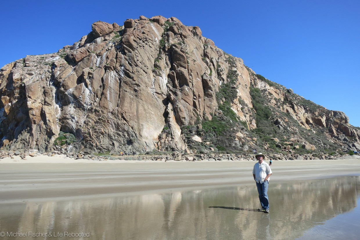 Morro Rock, at the entrance to Morro Bay Harbor.