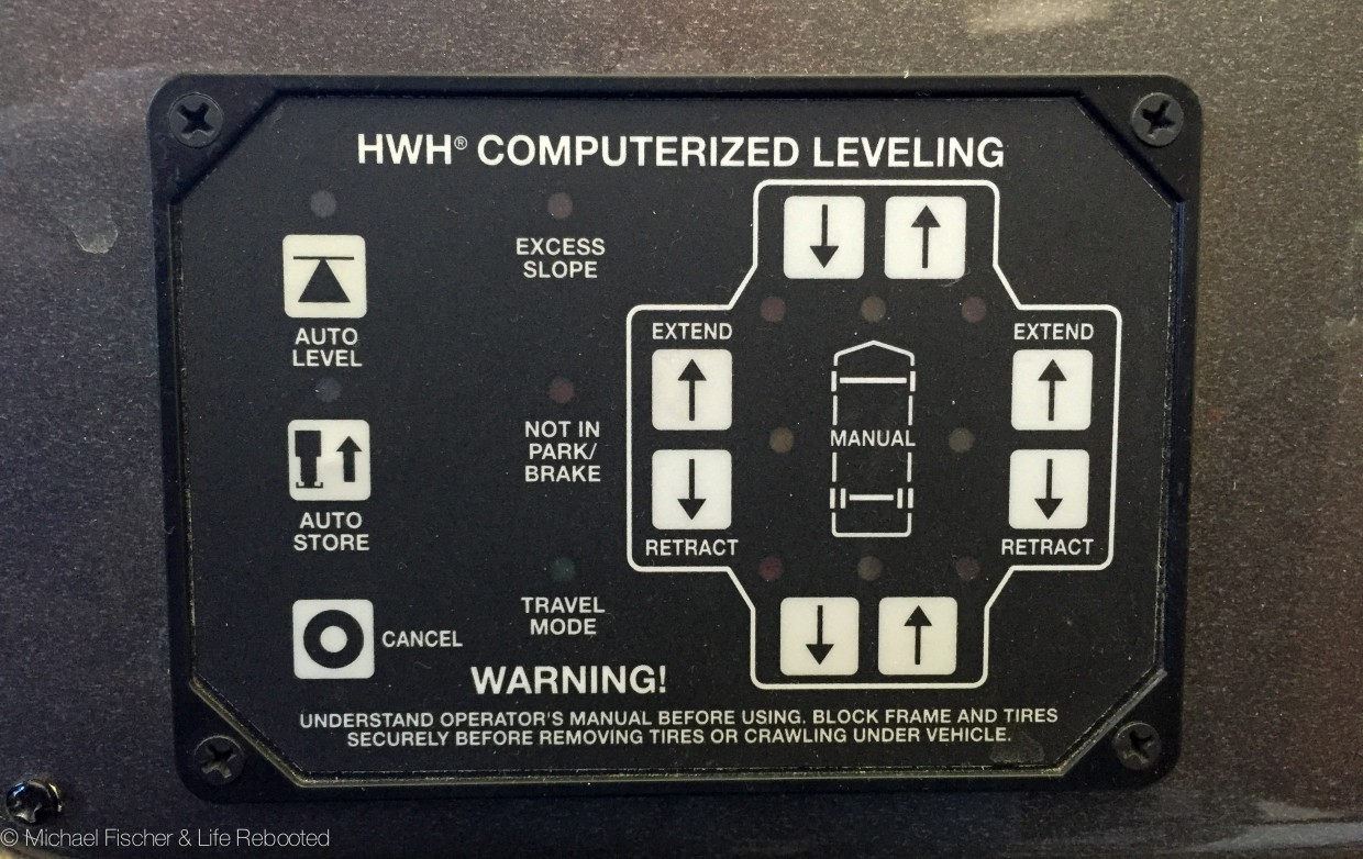 life rebooted adjusting hwh leveling jacks rh liferebooted net Class A Motorhome Leveling System hwh hydraulic leveling system instructions
