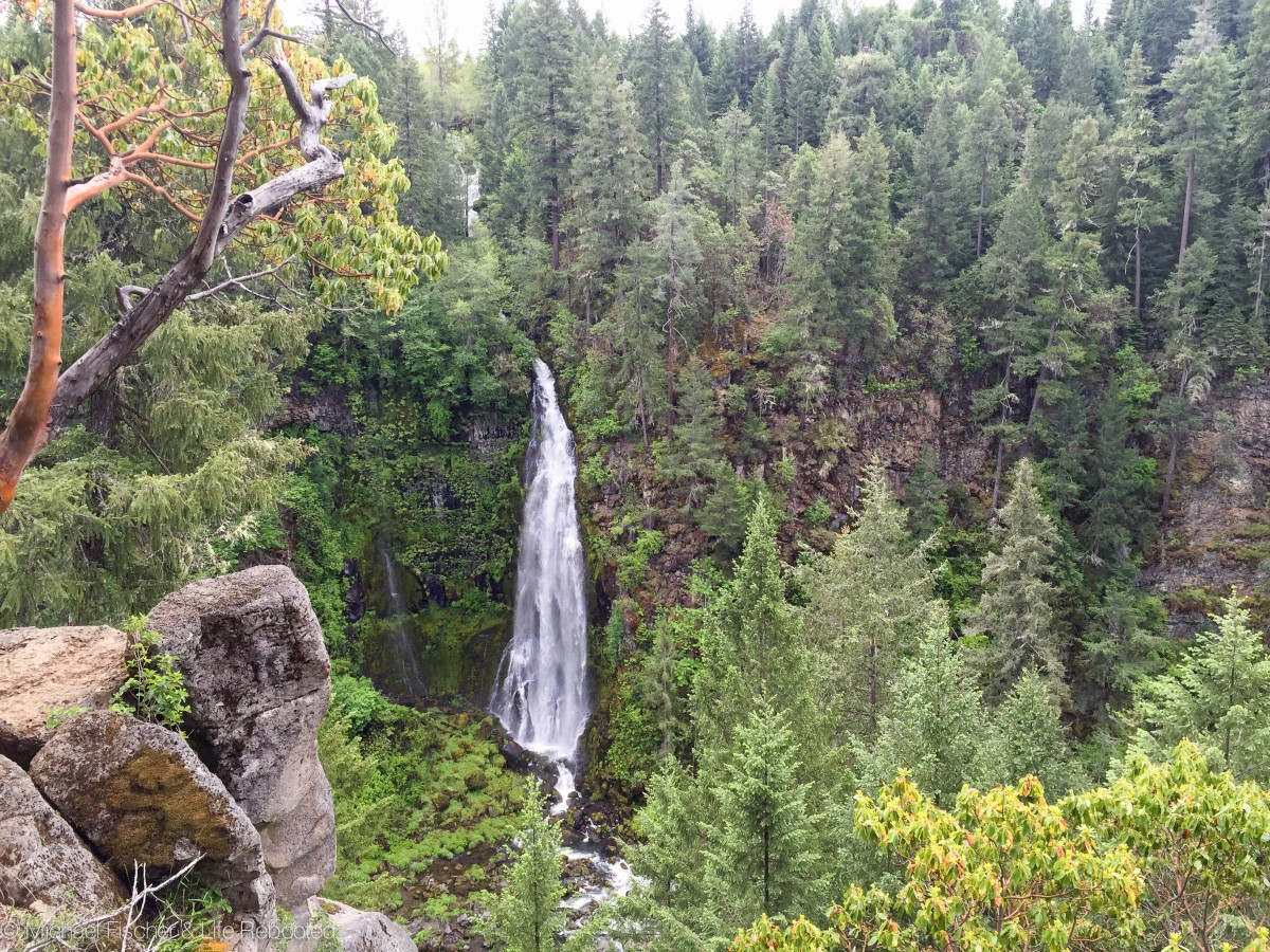 Barr Falls, a short drive and short hike from our campground