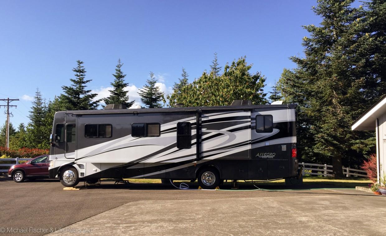 Rover's fourth driveway campsite.