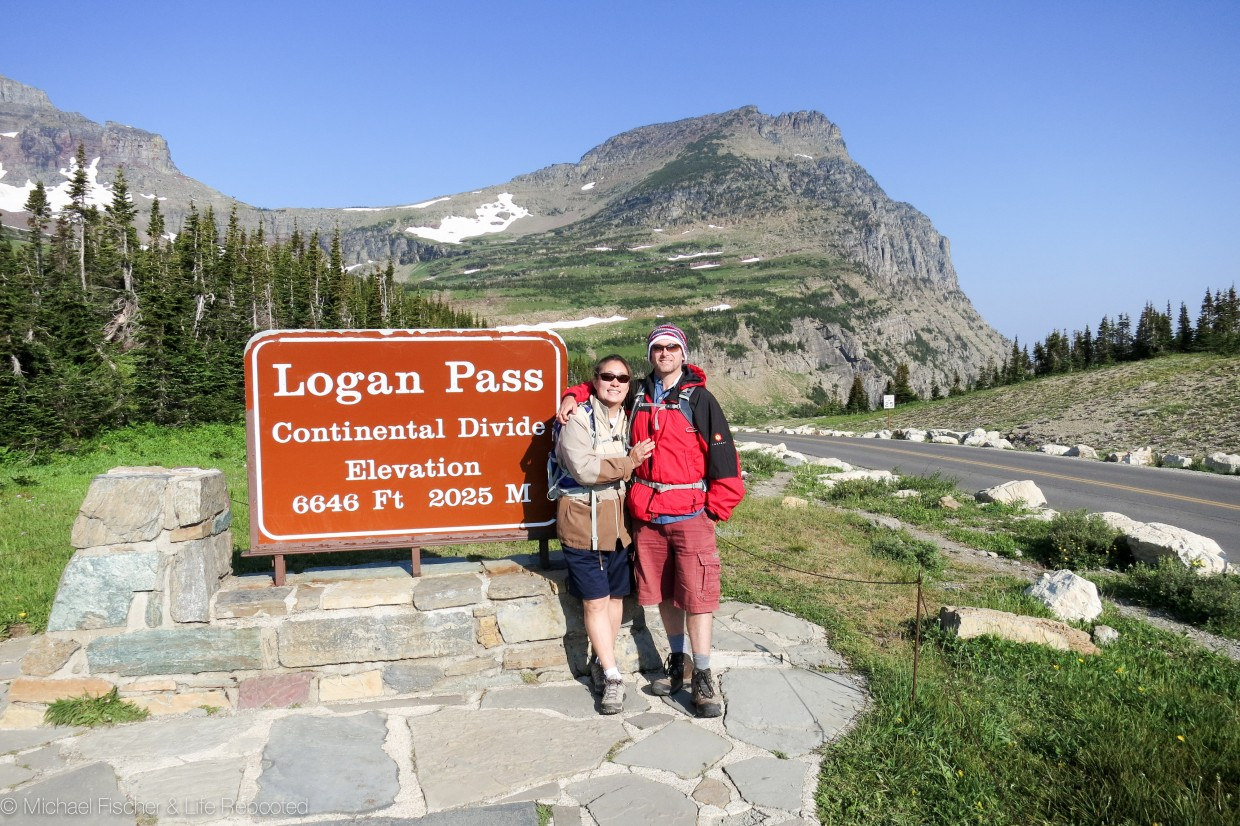 Starting our hike at Logan Pass