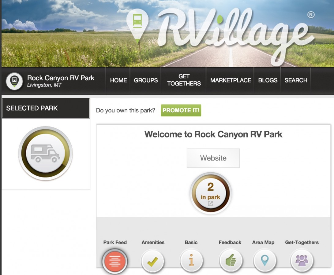 RVillage lets you find other RVers near you