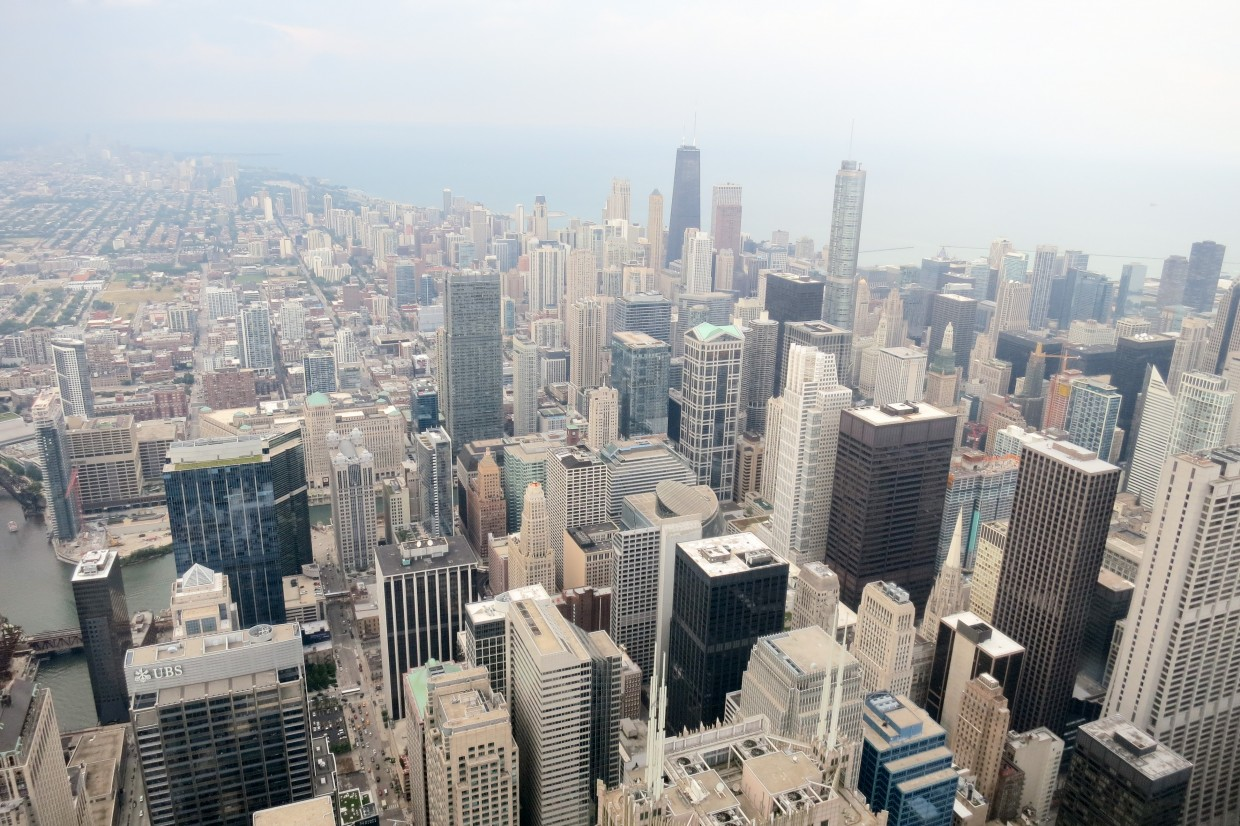 Chicago, from the top of Willis Tower.