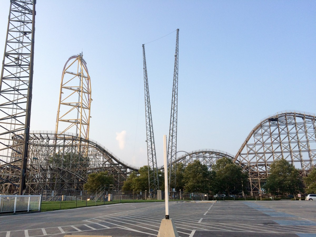 It's a short walk from the campground to the rear entrance to Cedar Point.
