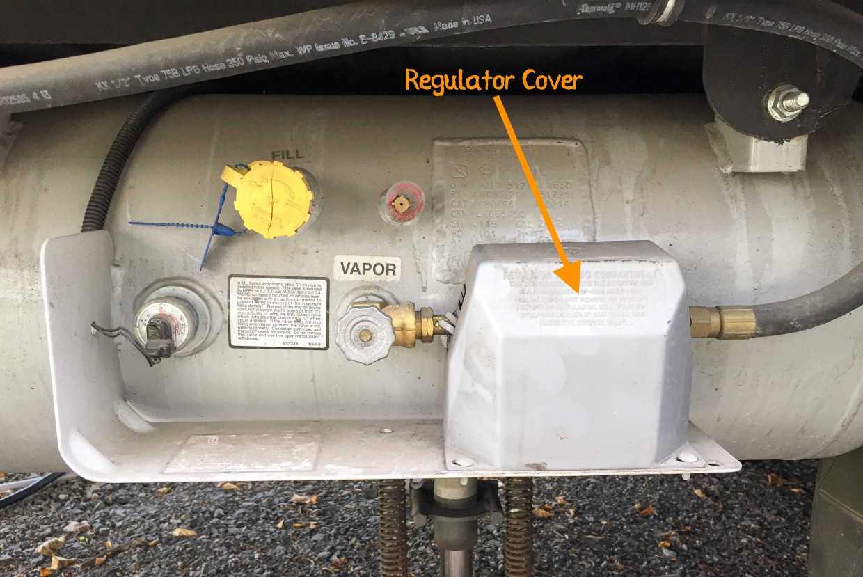 Propane regulator cover