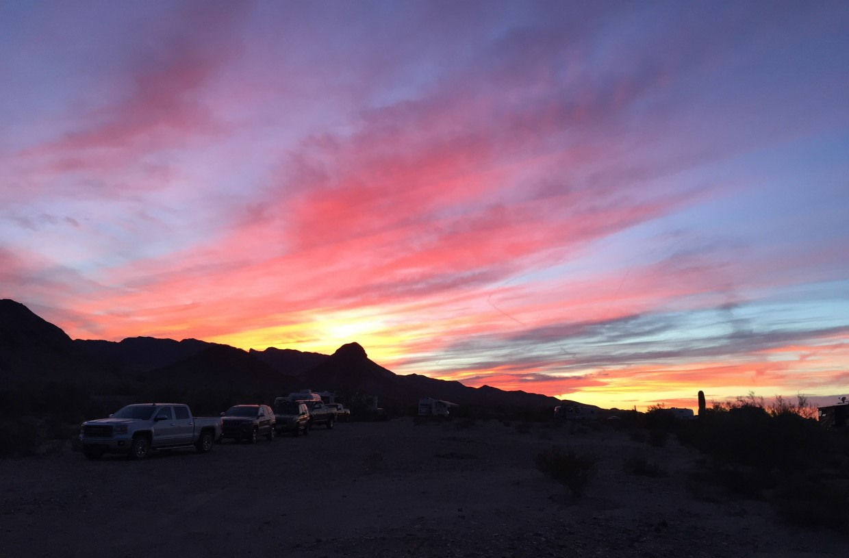 Quartzsite is known for its stunning sunsets.
