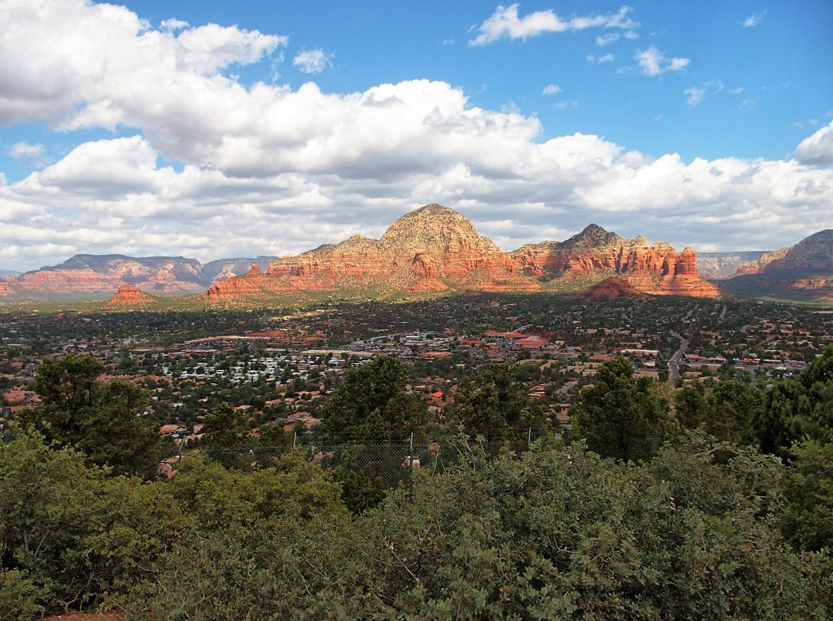 Viewing Sedona from the Airport Road overlook.