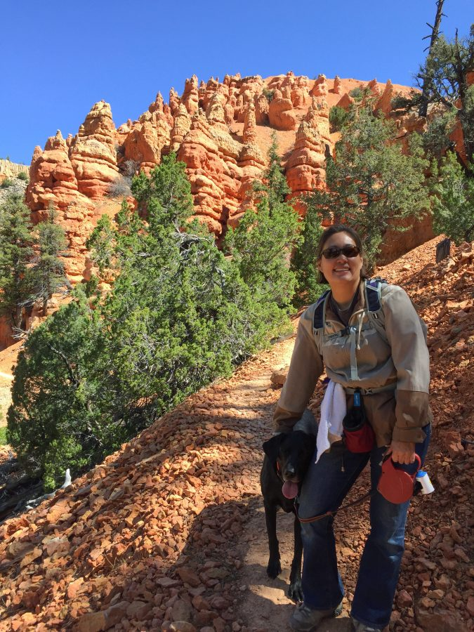 Hiking with Opie at Red Canyon in Dixie National Forest.