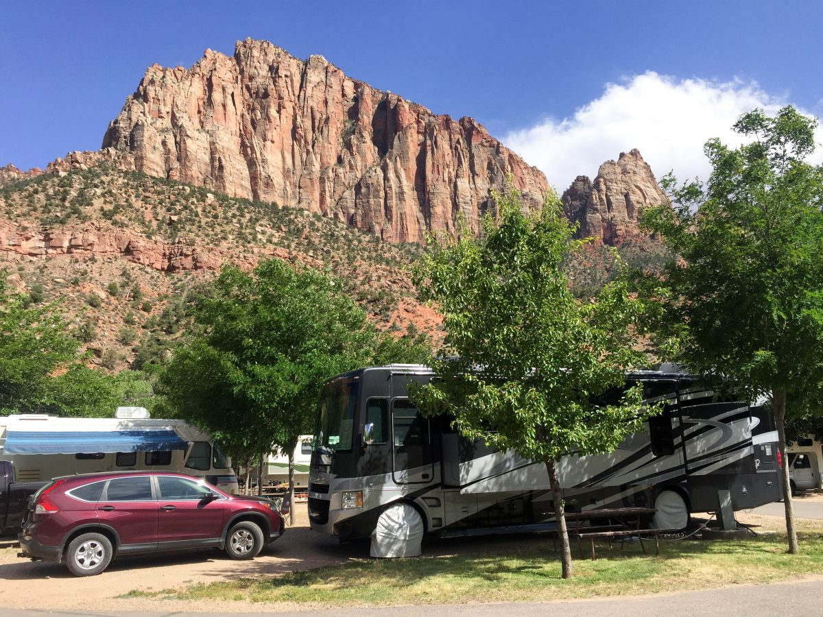 Beautiful views from out site at Zion Canyon Campground.