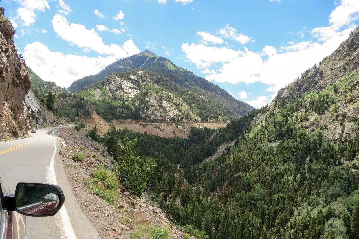 Driving down the Million Dollar Highway