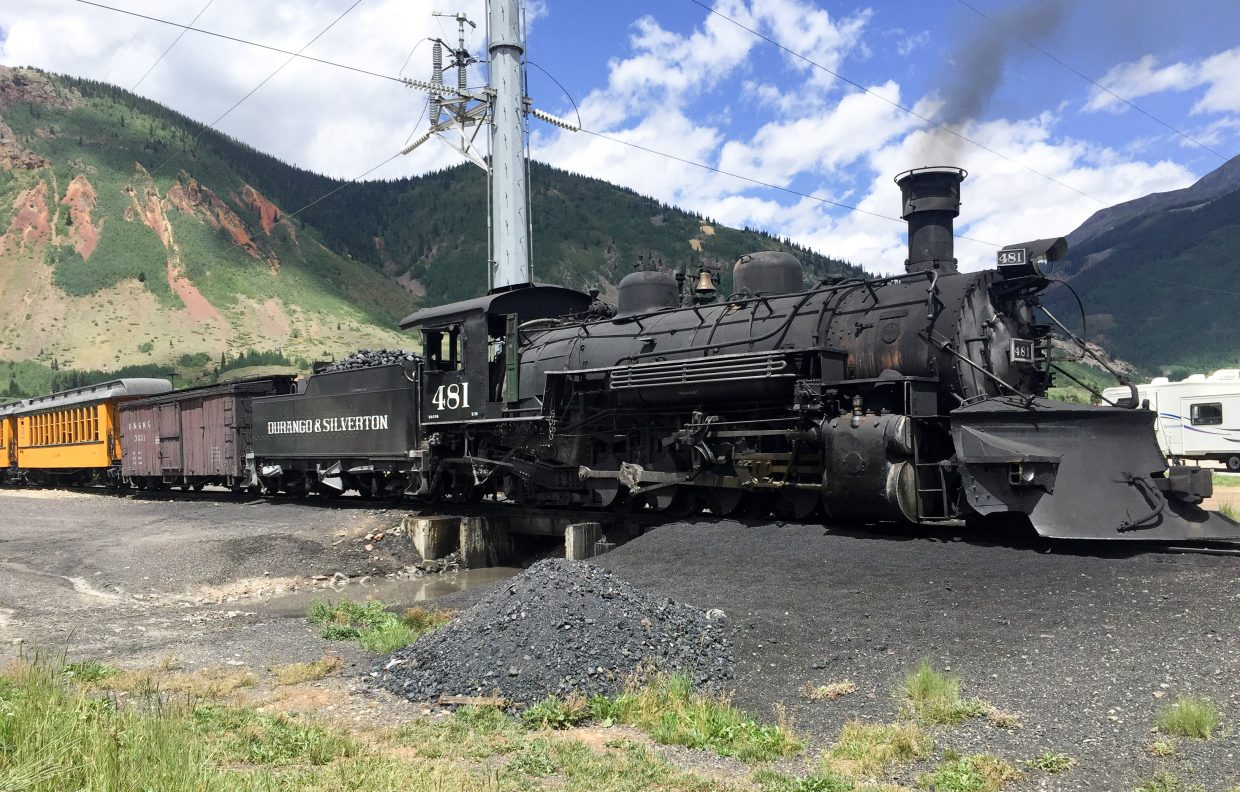 The Durango & Silverton Narrow Gauge train
