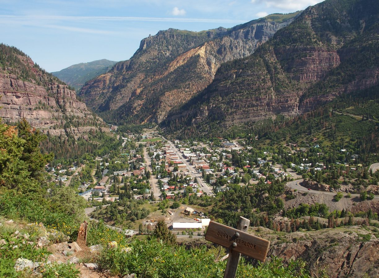 The Ouray Overlook from the Sutton Mine Trail