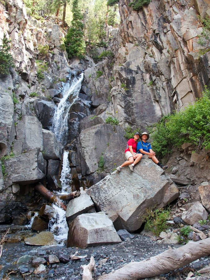 Taking a break above the Upper Cascade Falls