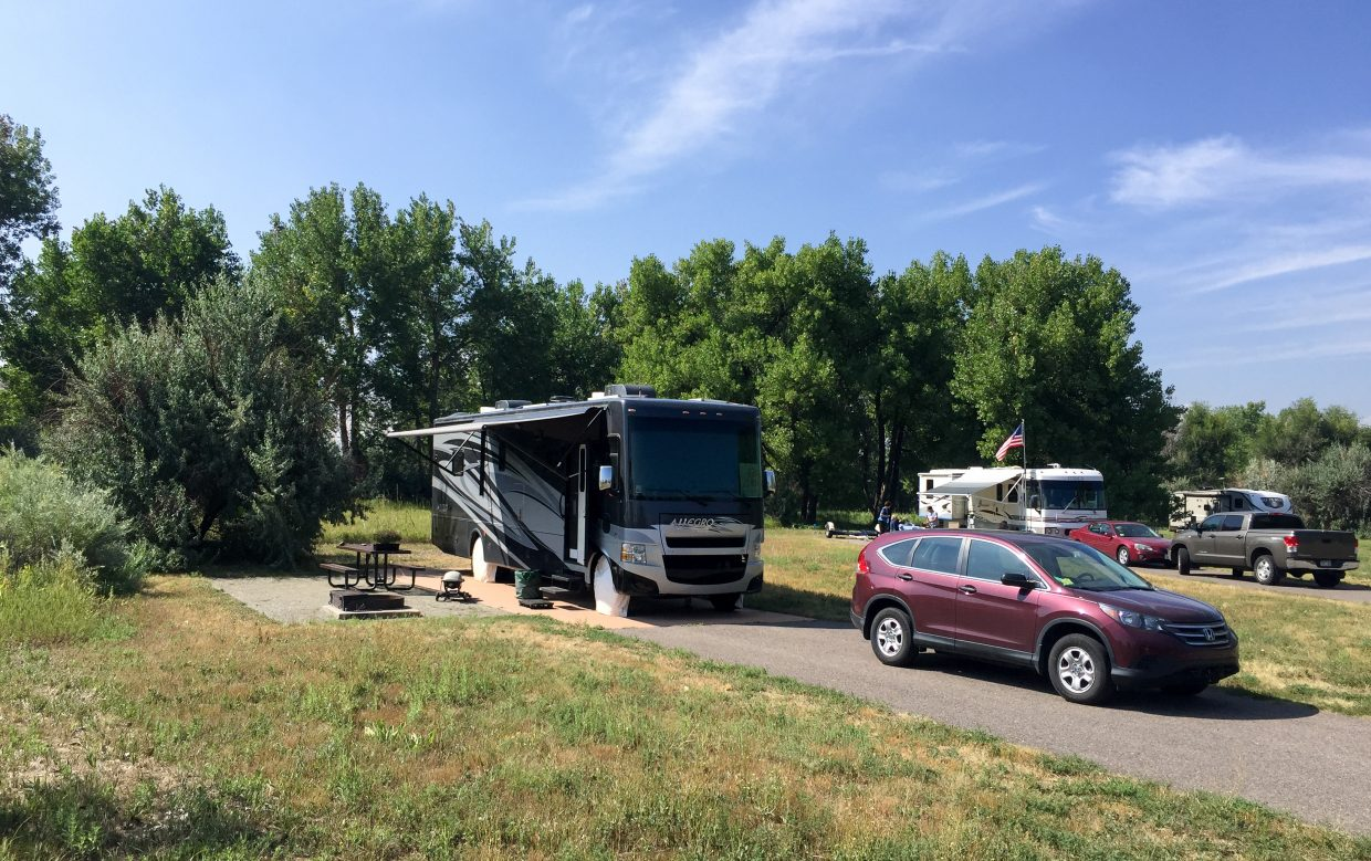 Our home for two weeks at Cherry Creek State Park near Denver.